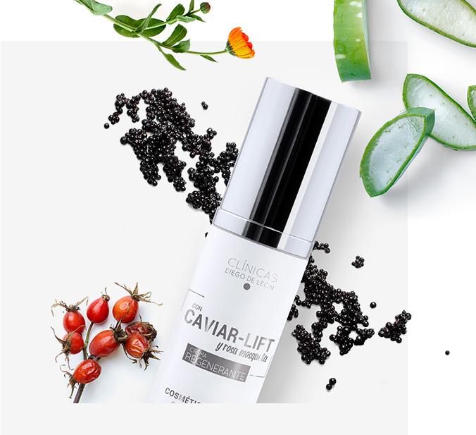 Crema facial regenerante con caviar