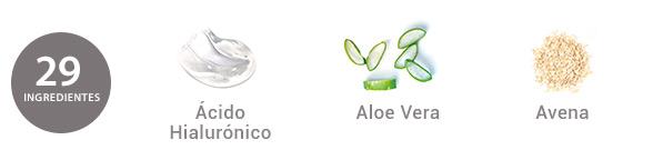 Ingredientes Crema Antiarrugas con Ácido Hialurónico y Aloe vera